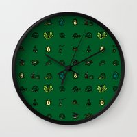 ninja turtles Wall Clocks featuring Turtles by AboveOrdinaryArts
