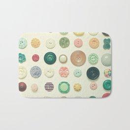 The Button Collection Bath Mat