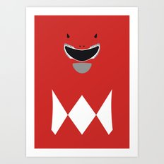 Power Rangers - Red Ranger Minimalist Art Print