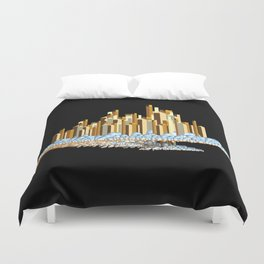 City In The Clouds Duvet Cover