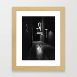 Back Alley Jazz Framed Art Print