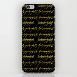 Elvish // Gold & Black iPhone Skin