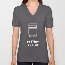 Believe in Peanut Butter Unisex V-Neck