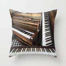 Piano Montage  Throw Pillow
