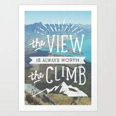 WORTH THE CLIMB Art Print