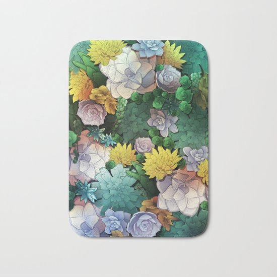 Succulent World Bath Mat