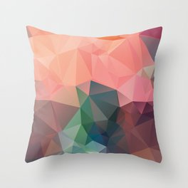 Bluepink – modern polygram illustration, wall art print Throw Pillow