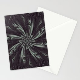 Out of the Darkness Fractal Bloom Stationery Cards