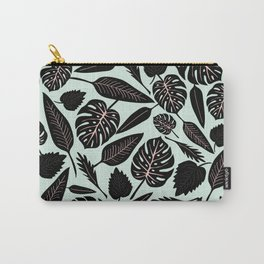 Blacked Leaves Carry-All Pouch