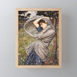 John William Waterhouse - Boreas Framed Mini Art Print