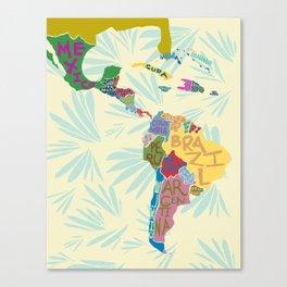 Map. Mapa. Carte. Canvas Print