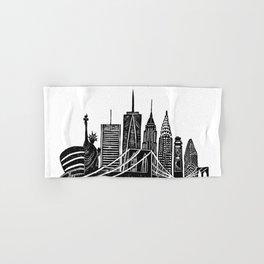 Linocut New York Hand & Bath Towel
