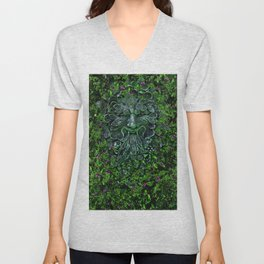 THE GREEN MAN Unisex V-Neck