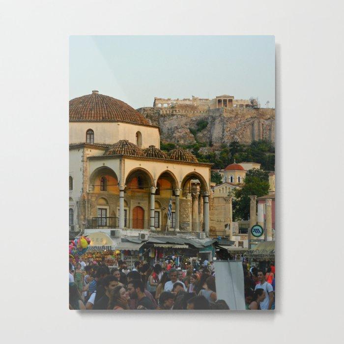 Monastiraki Square - Athens, Greece Metal Print
