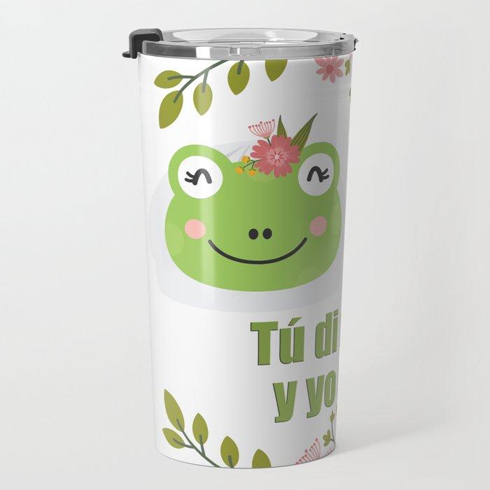 Frogs in love Travel Mug