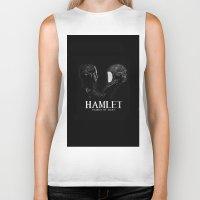 hamlet Biker Tanks featuring Hamlet: Prince of Mars by Caitlin Taduran