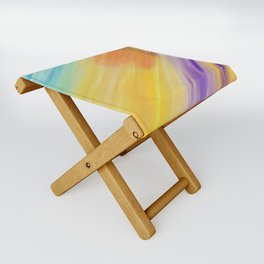 """Catch the Sun #1 – Sequel #1"" Oil Painting Folding Stool"