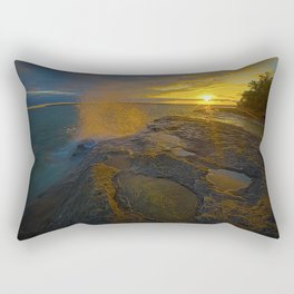 Morning sunrise at the caves Rectangular Pillow