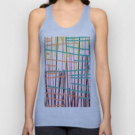 Abstract colorful watercolor paint drips pattern Unisex Tank Top