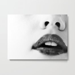 the unbearable kiss of a stranger Metal Print