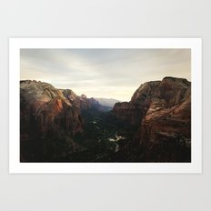 Angels Landing Set Art Print
