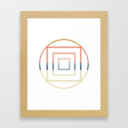 Layered Shapes Framed Art Print