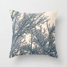 Winter Layers Throw Pillow