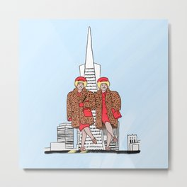 San Francisco's iconic Brown Twins Metal Print