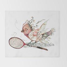 The Wild Badminton Birdie Throw Blanket