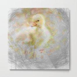 Artistic Animal Chick Metal Print