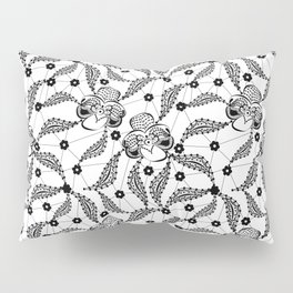 Black vintage lace . Pillow Sham