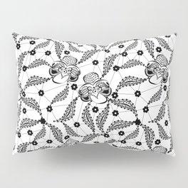 Black vintage lace . Pillow Sham