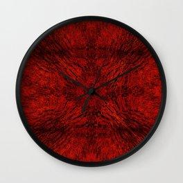 Motion Mandala Deep Red Wall Clock