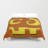 pumpkin Duvet Covers featuring Pumpkin by ItalianRicanArt