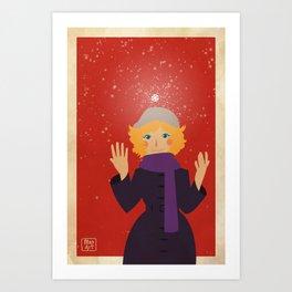 Winter time! Art Print