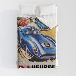 Le Mans poster, 1956, race poster, t shirt Duvet Cover