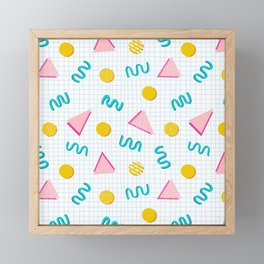 Geometric Memphis Framed Mini Art Print