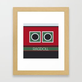 Ragdoll Boat Framed Art Print