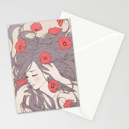 Oblivion - Red Poppy Stationery Cards