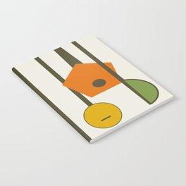 Mid-Century Modern Art Musical Strings Notebook