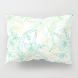 Abstract Lily Flowers Pillow Sham