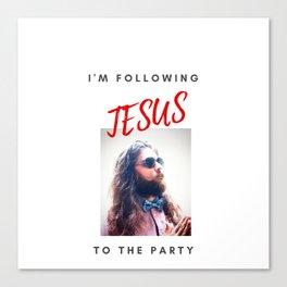 Party Jesus Canvas Print