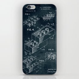 1958 Toy Building Brick patent art iPhone Skin