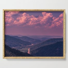 Purple Mountains Serving Tray