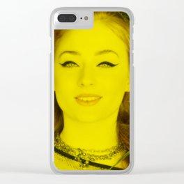 Sophie Turner - Celebrity (Florescent Color Technique) Clear iPhone Case