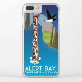 Alert Bay Canada Travel poster. Clear iPhone Case