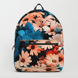 Colourful Daisies Pattern Backpack