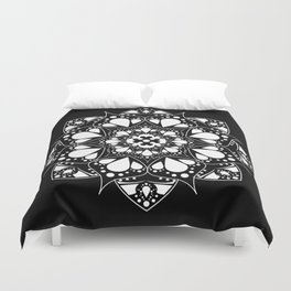 Mandala Black and White Magic Duvet Cover
