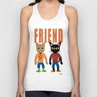 best friend Tank Tops featuring Friend by BATKEI