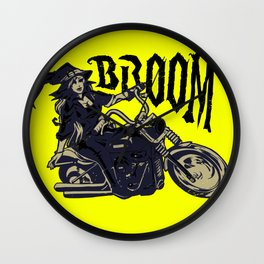 Broom Witch Wall Clock